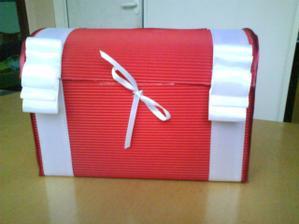 Krabička na přáníčka - vlastní výroba