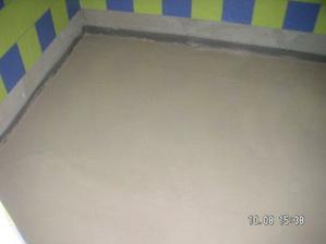 podlahy jsou hotové