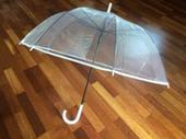 Průsvitný/průhledný deštník pro nevěstu či ženicha,