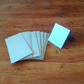 Kartička stříbrná, metalická - dlouhá,