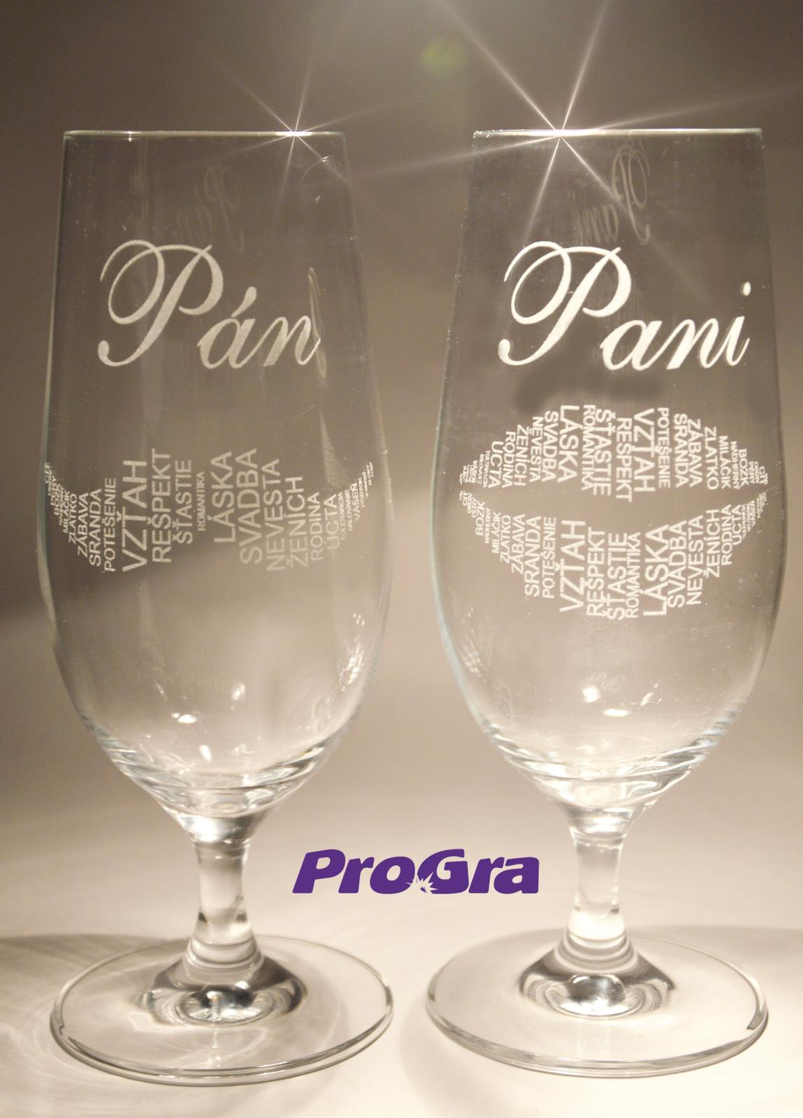 Svatební skleničky - Svatební skleničky Stella