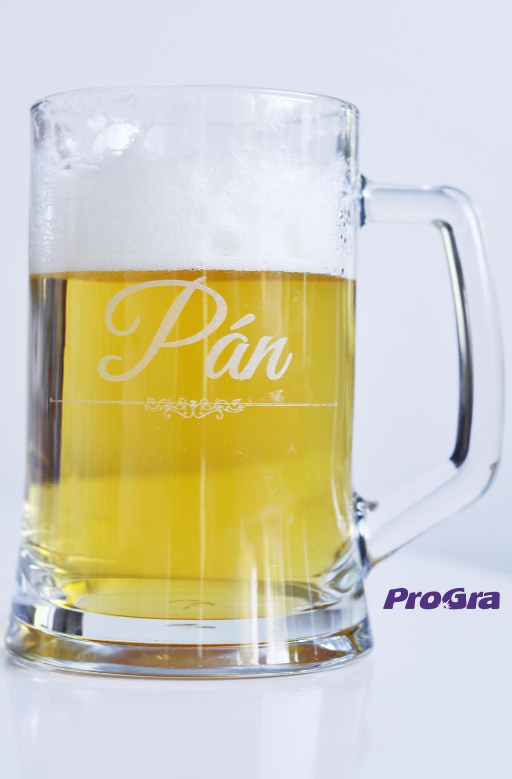 """Svatební skleničky - Svatební krígel """"Pán"""" ze sady svatebních sklenic Fiona - už v naší standardní nabídce"""