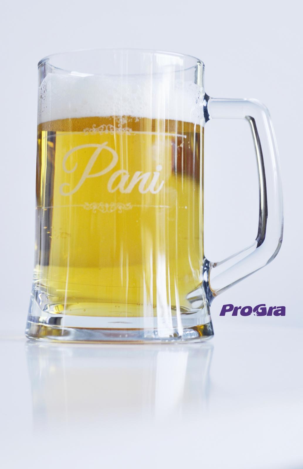 """Svatební skleničky - Svatební krígel """"Paní"""" ze sady svatebních sklenic Fiona - už v naší standardní nabídce"""