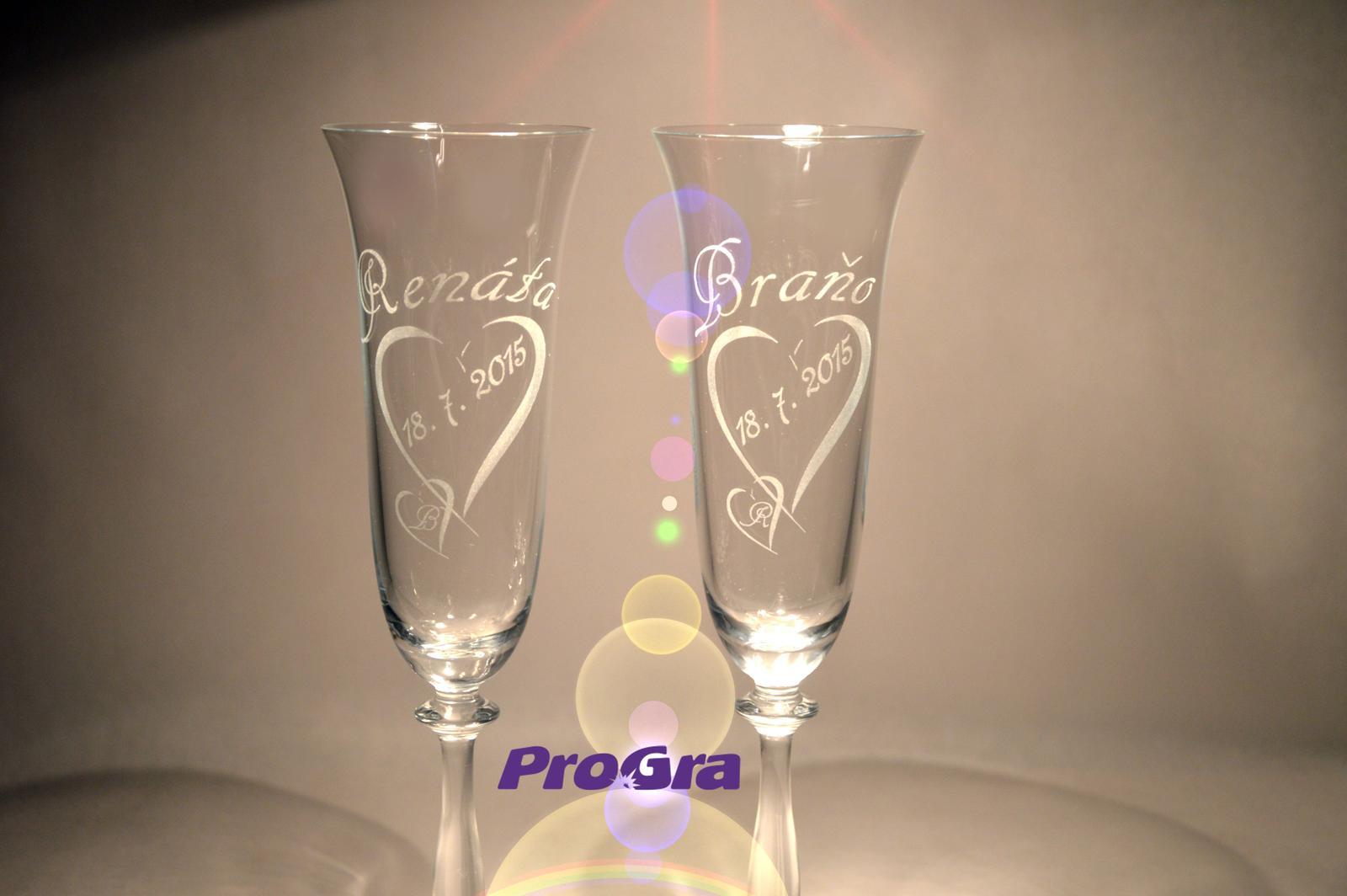 Svatební skleničky - Svatební skleničky Angela