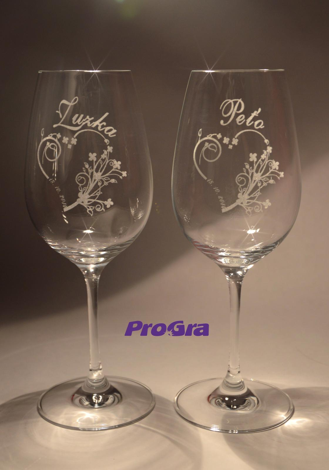 Svatební skleničky - Svatební skleničky Viera