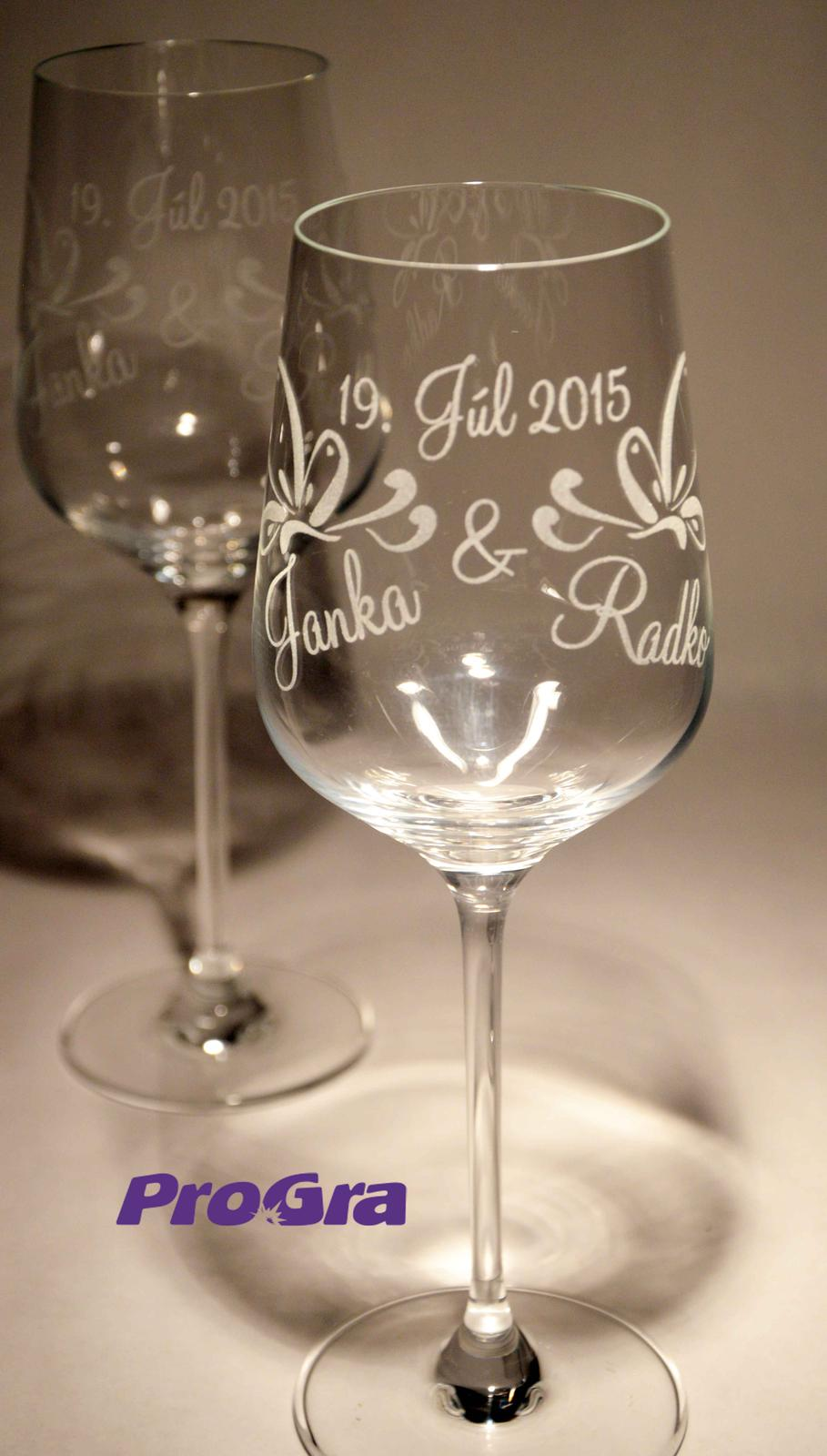 Svatební skleničky - Lilien - svatební skleničky