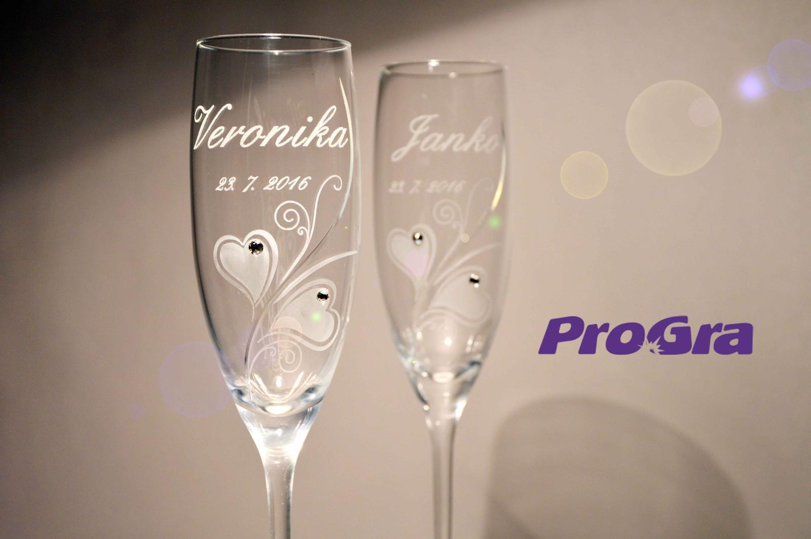 Svatební skleničky - svatební skleničky Zara