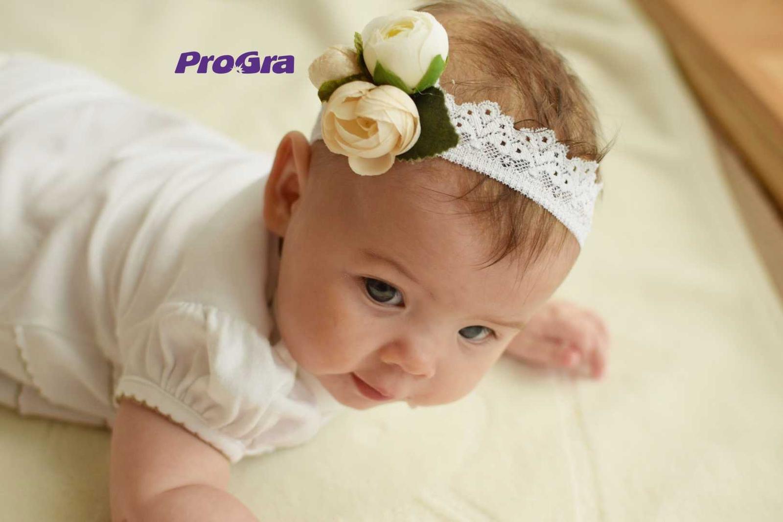 Originální Svatební Doplňky - Květová - miminko čelenka pro malou družičku