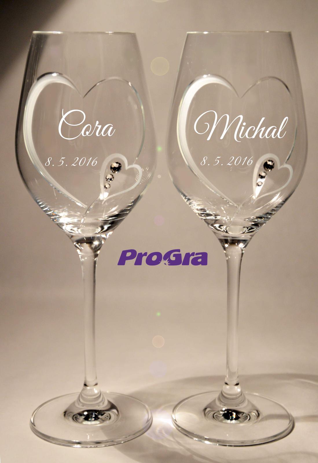 Svatební skleničky - Cora - svatební skleničky