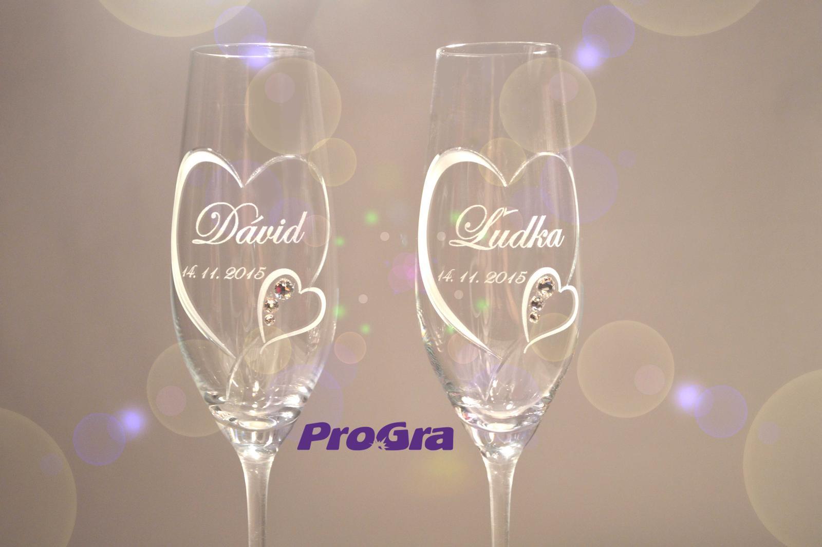 Svatební skleničky - svatební poháry Clara z naší ponuky