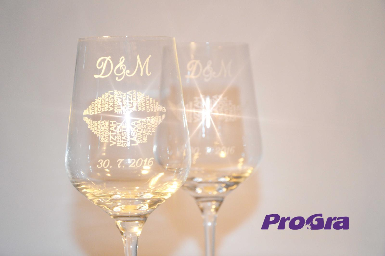 Svatební skleničky - Helen - svatební sklenice gravírované grafikou 26 z naší nabídky