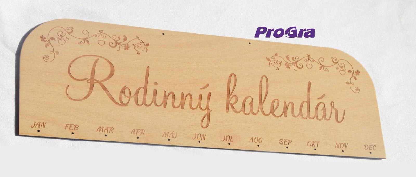 Po svatbě - Hlavní deska - vyskládejte si svůj originální rodinný kalendář!