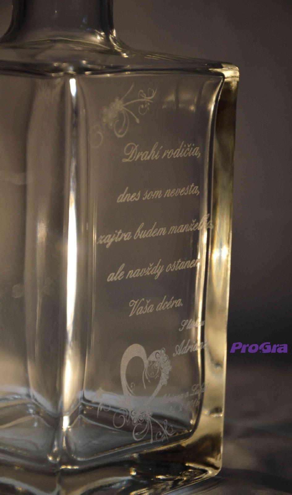 Poděkování rodičům - Ryan - láhev s gravírováním jako dárek pro svatebních rodiče - Poděkování rodičům