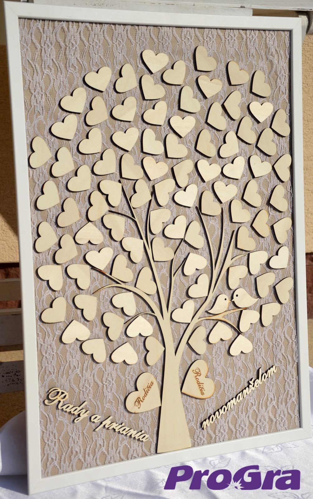 Originální Svatební Doplňky - Svatební strom - vintage obraz