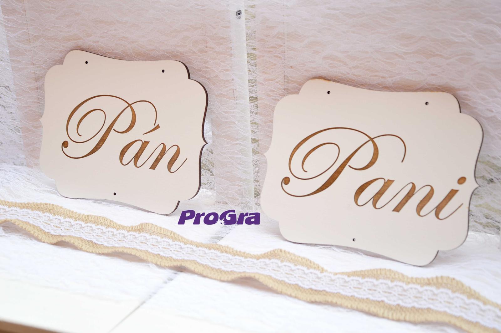 Originální Svatební Doplňky - Svatební tabulky bílé - set 2ks