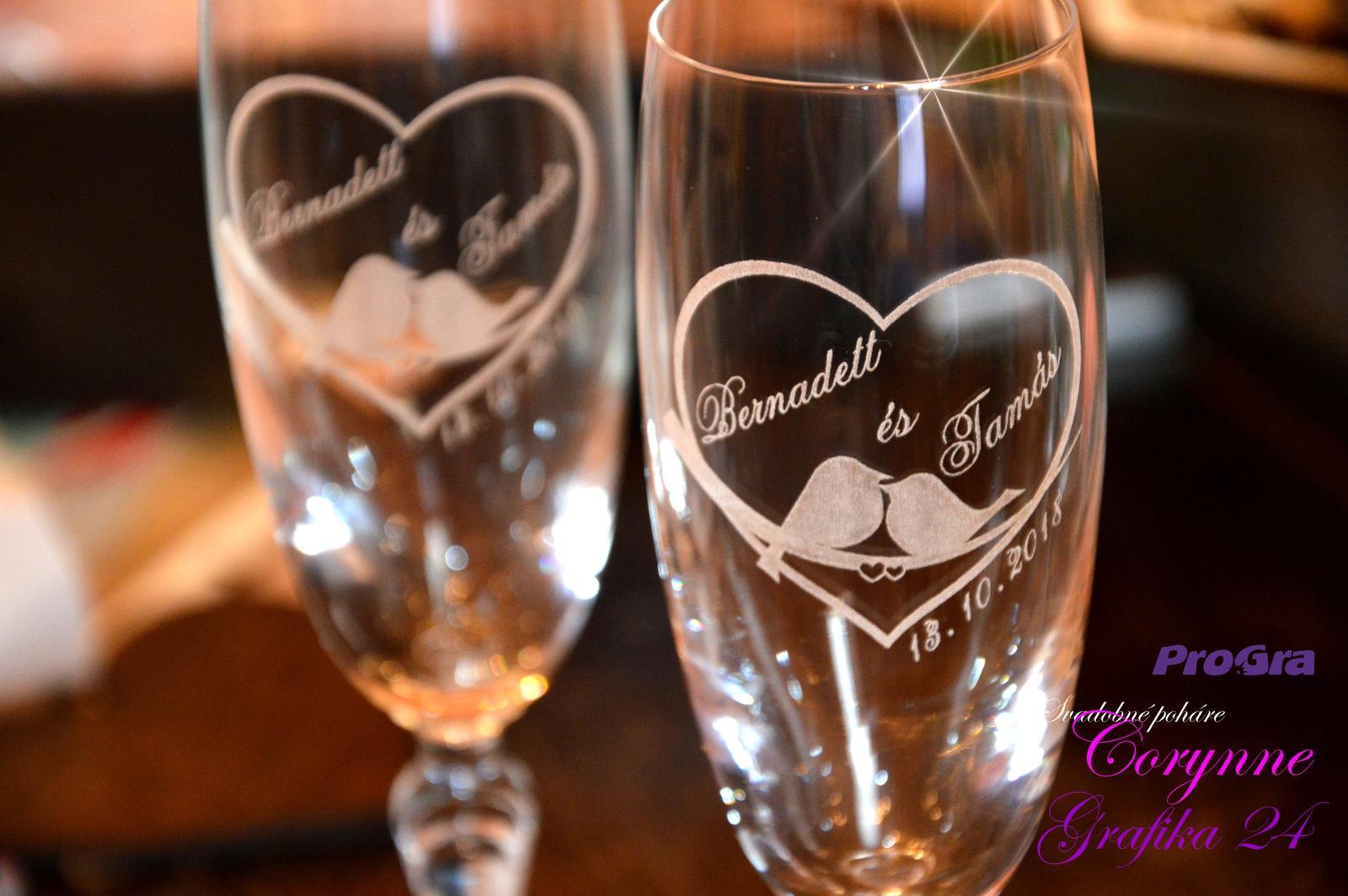 Svatební skleničky - Krásné gravírování rádi připravíme i pro Vás