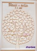 Svadobný obraz - strom zladený do bledoružovej farby, viac info na našom webe