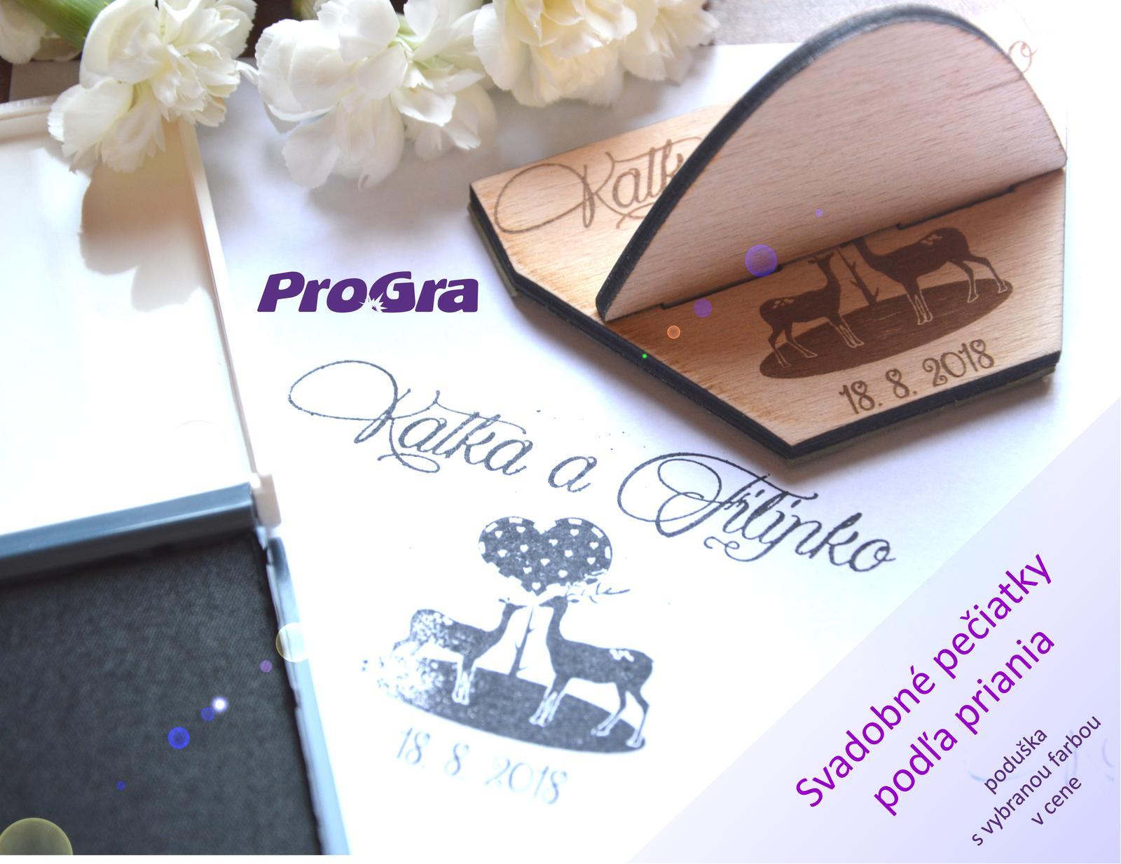 Svatební razítka - razítko s grafikou vytvořenou na základě přání zákazníků