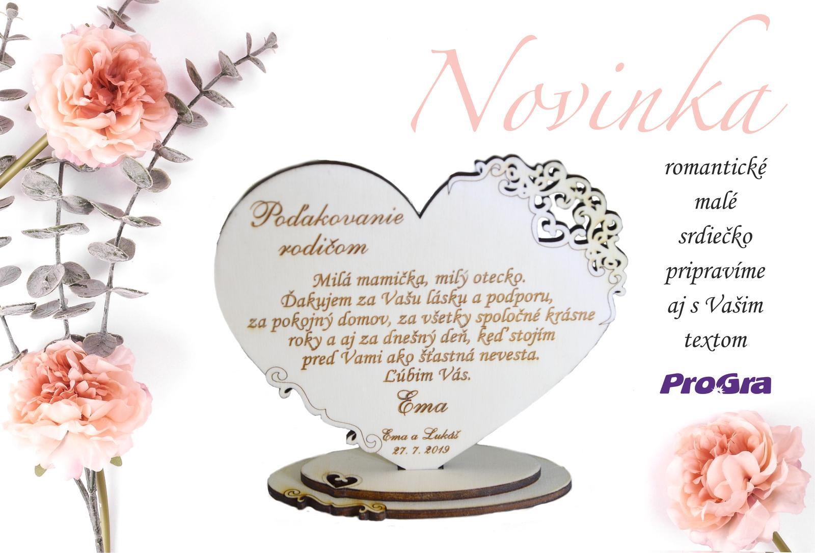 Poděkování rodičům - Malý milý krásný a osobní dárek pro svatební rodiče