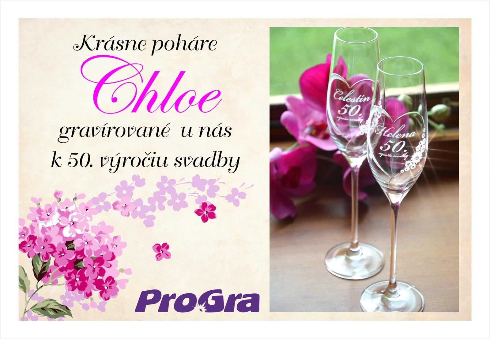 Svatební skleničky - Krásne 50. výročie svadby - obdivujeme a gratulujeme :-)