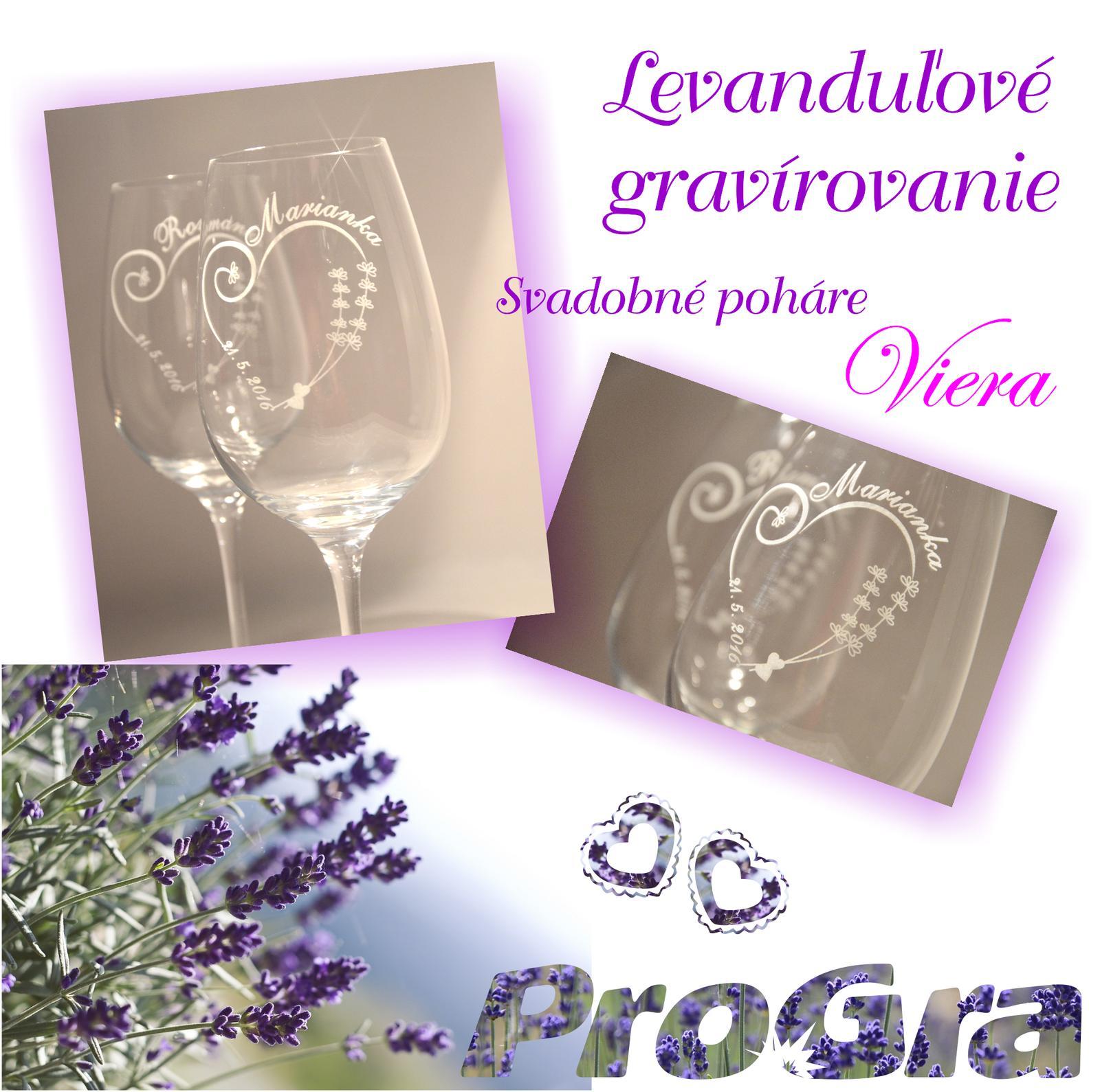 Svatební skleničky - Radi pripravíme gravírovanie pohárov zladené vo Vašom štýle svadby