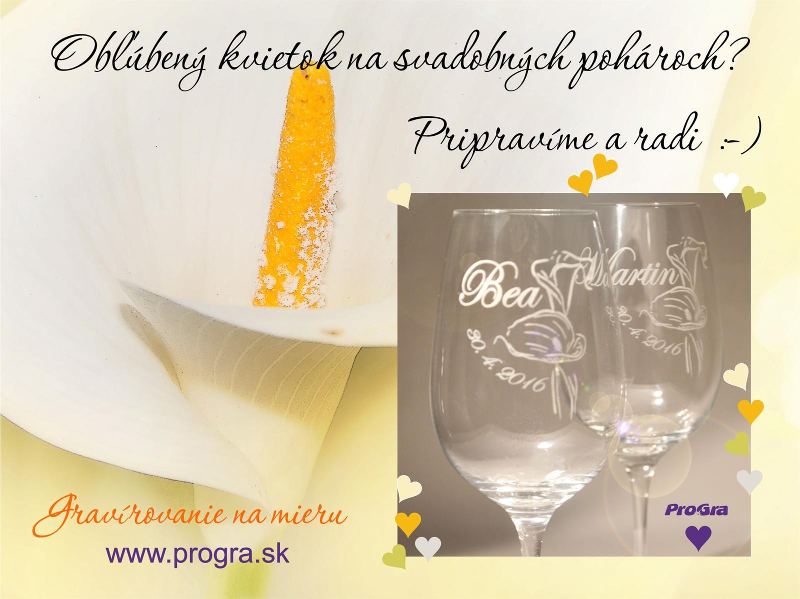 Svatební skleničky - kontaktujte nás s Vašou predstavou: prograsro@gmail.com