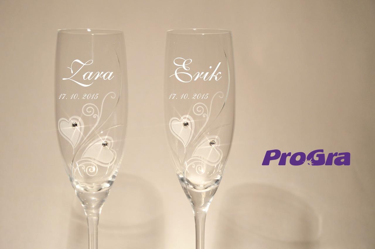 Zara - svatební skleničky 2ks - Obrázek č. 1