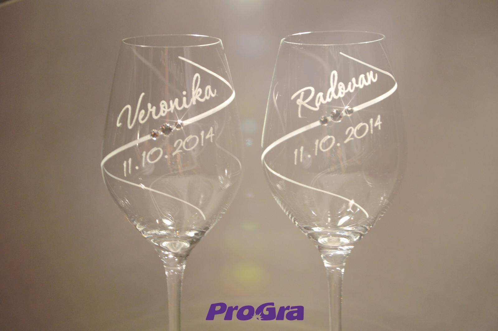 Erin - svatební skleničky 2ks - Obrázek č. 1