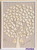 Svatební strom - vintage obraz,