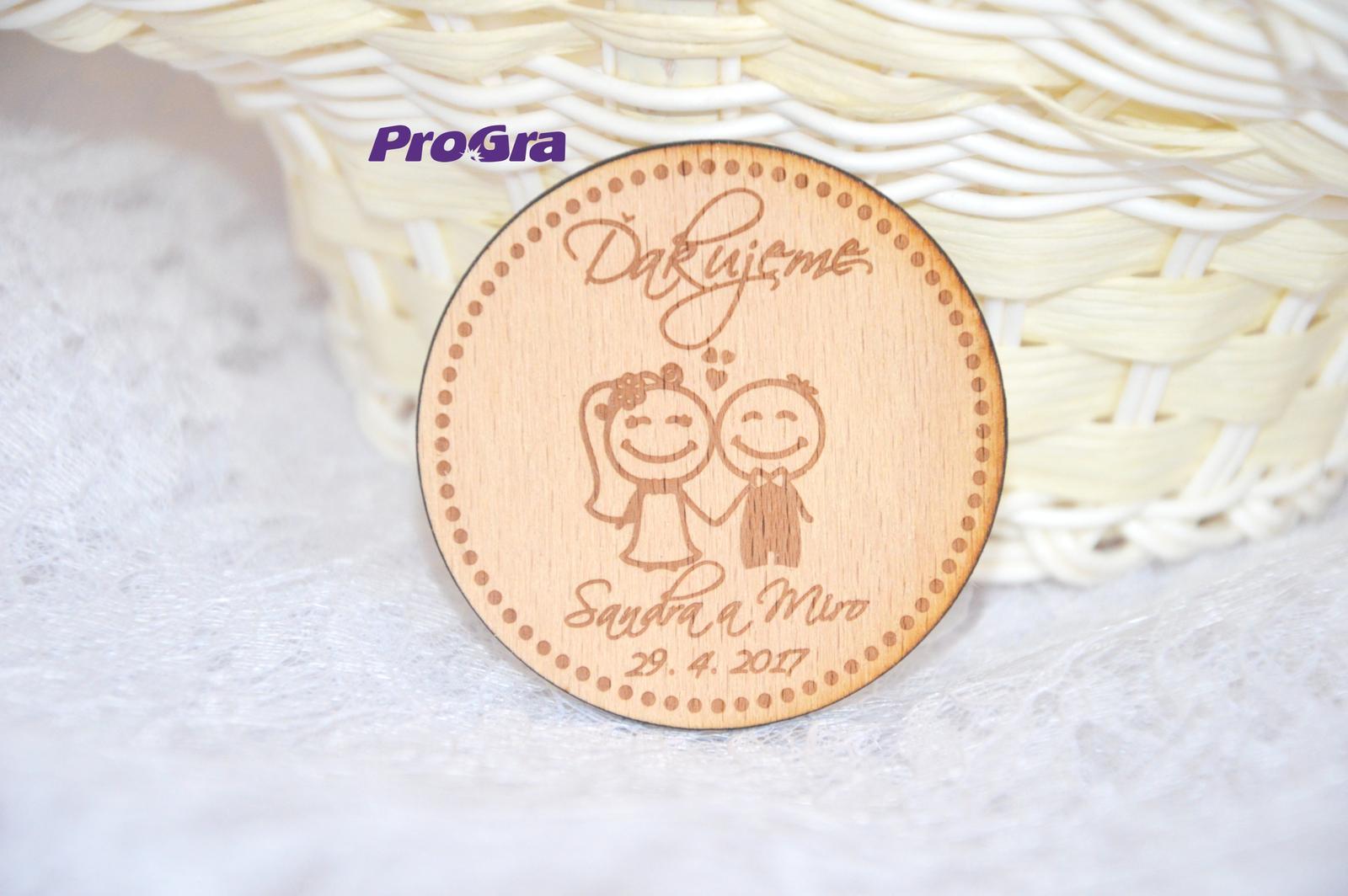 Svatební magnet - kruh - Obrázek č. 2
