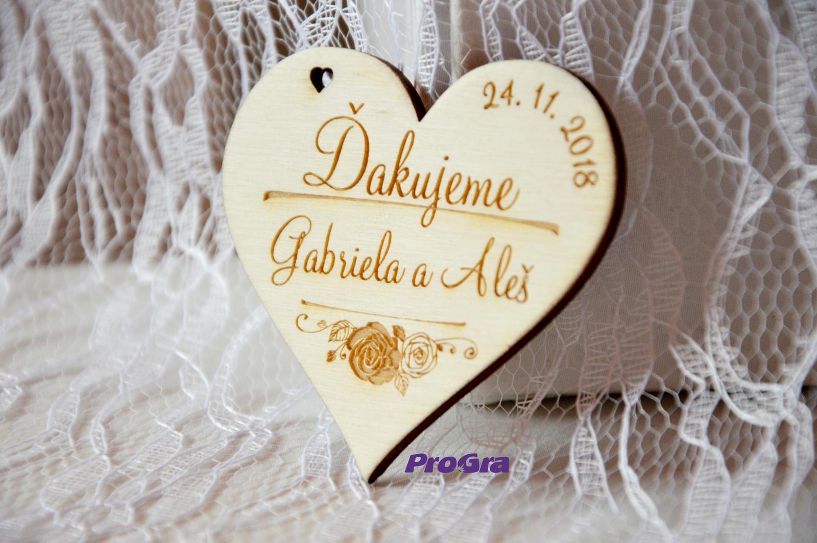 Dřevěná magnetka - Vůně růží - svatební - Obrázek č. 2