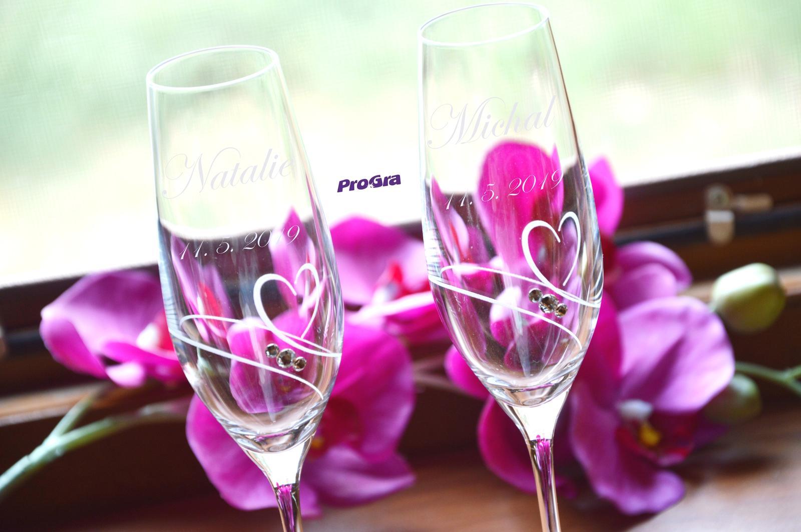 Natalie - svadobné poháre - 2ks - Obrázek č. 1