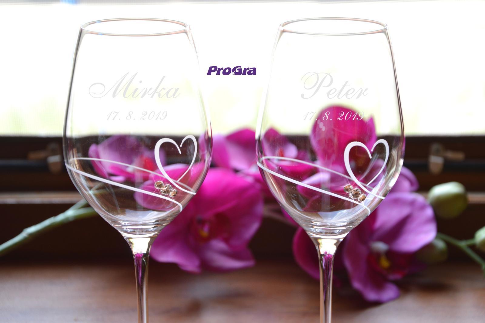 Mirka - svatební sklenice - 2ks - Obrázek č. 1