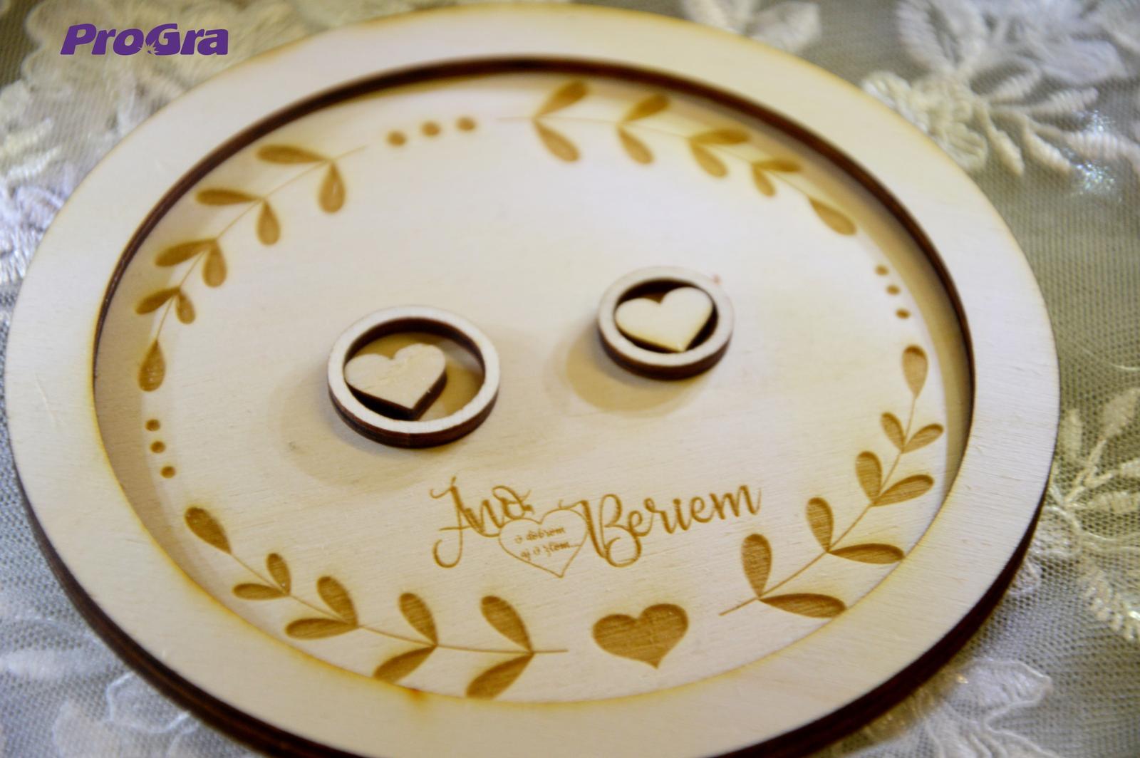 Kruhový talířek pro prsteny - Obrázek č. 1