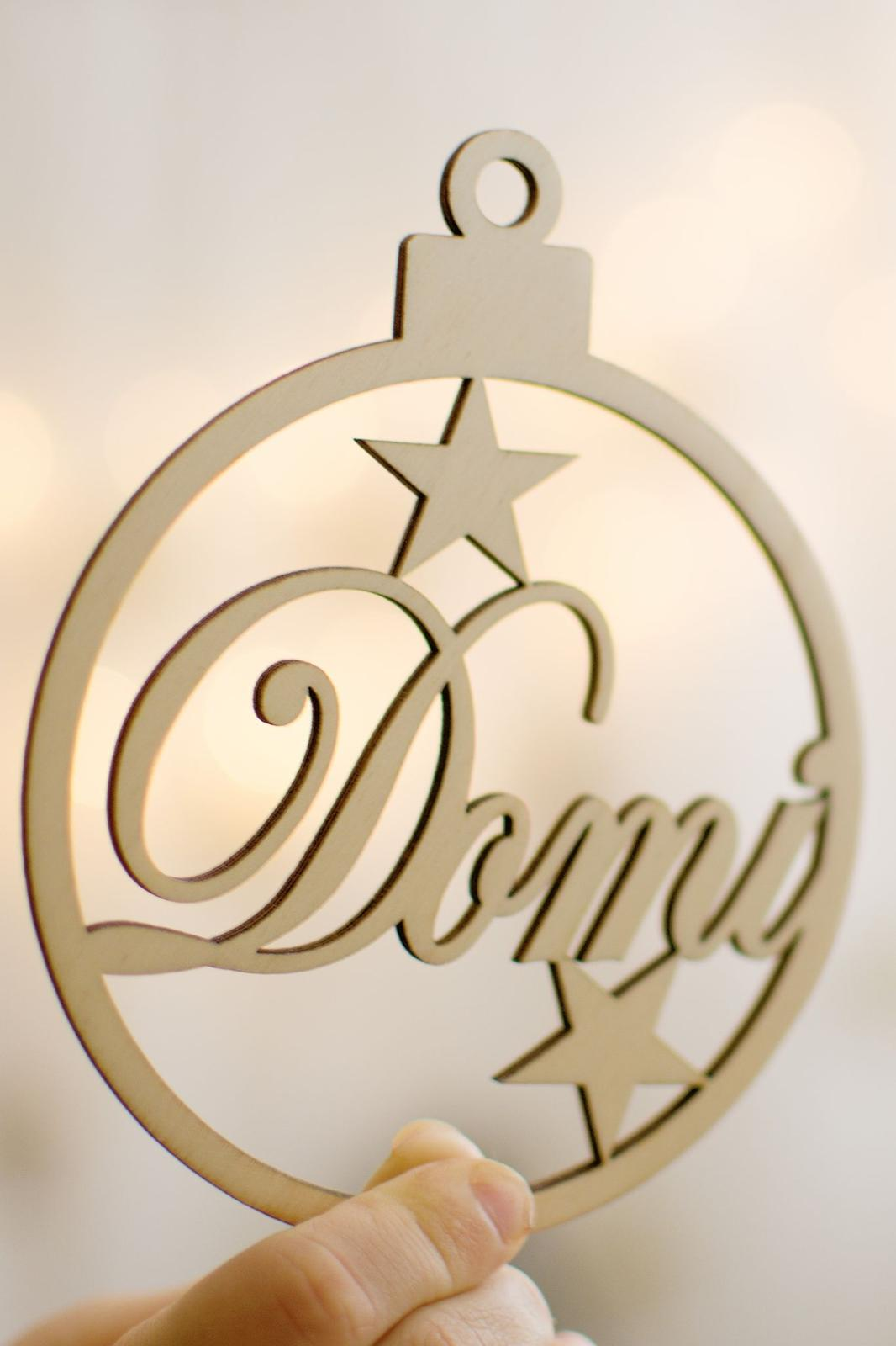 Vánoční koule - jmenovka nebo dárek pro hosty - Obrázek č. 3
