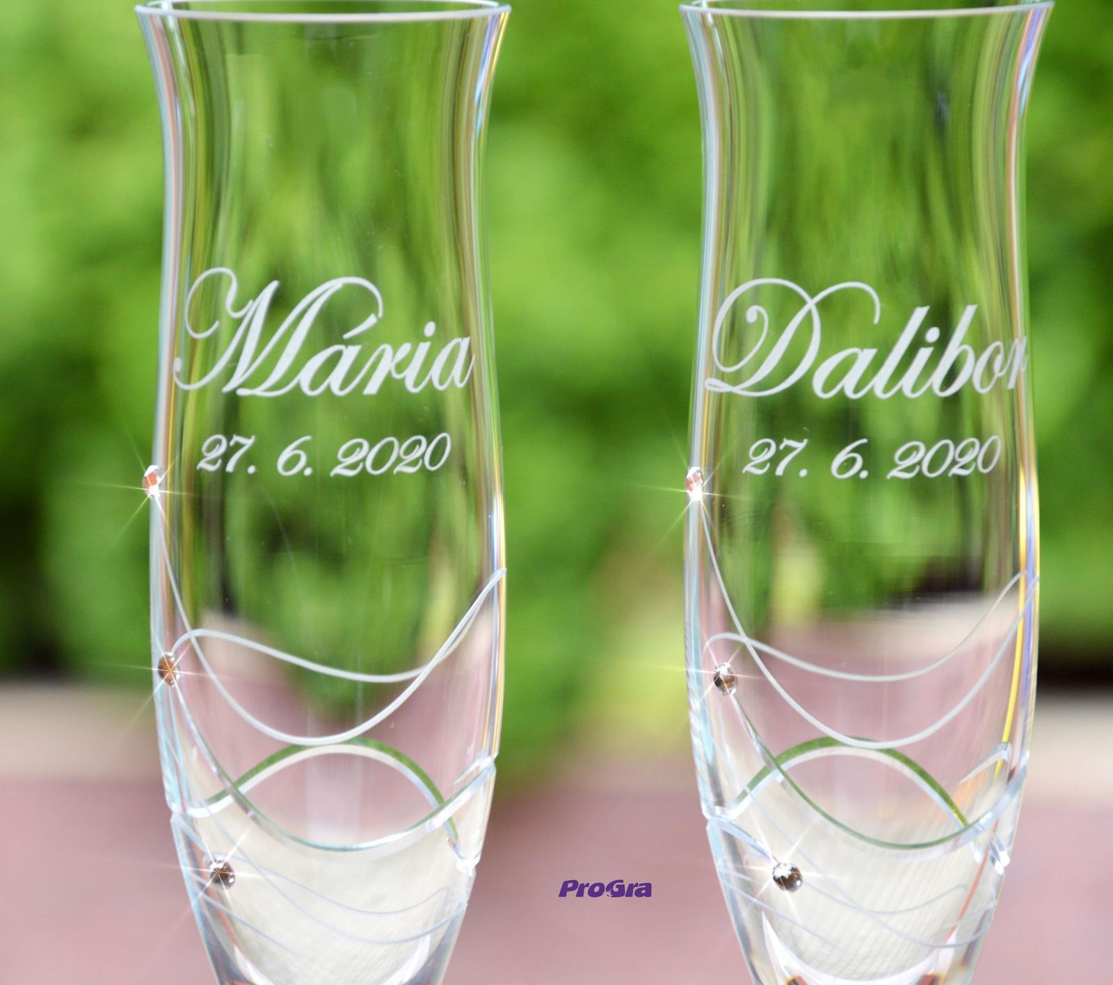 Ava - svatební sklenice - 2ks - Obrázek č. 1