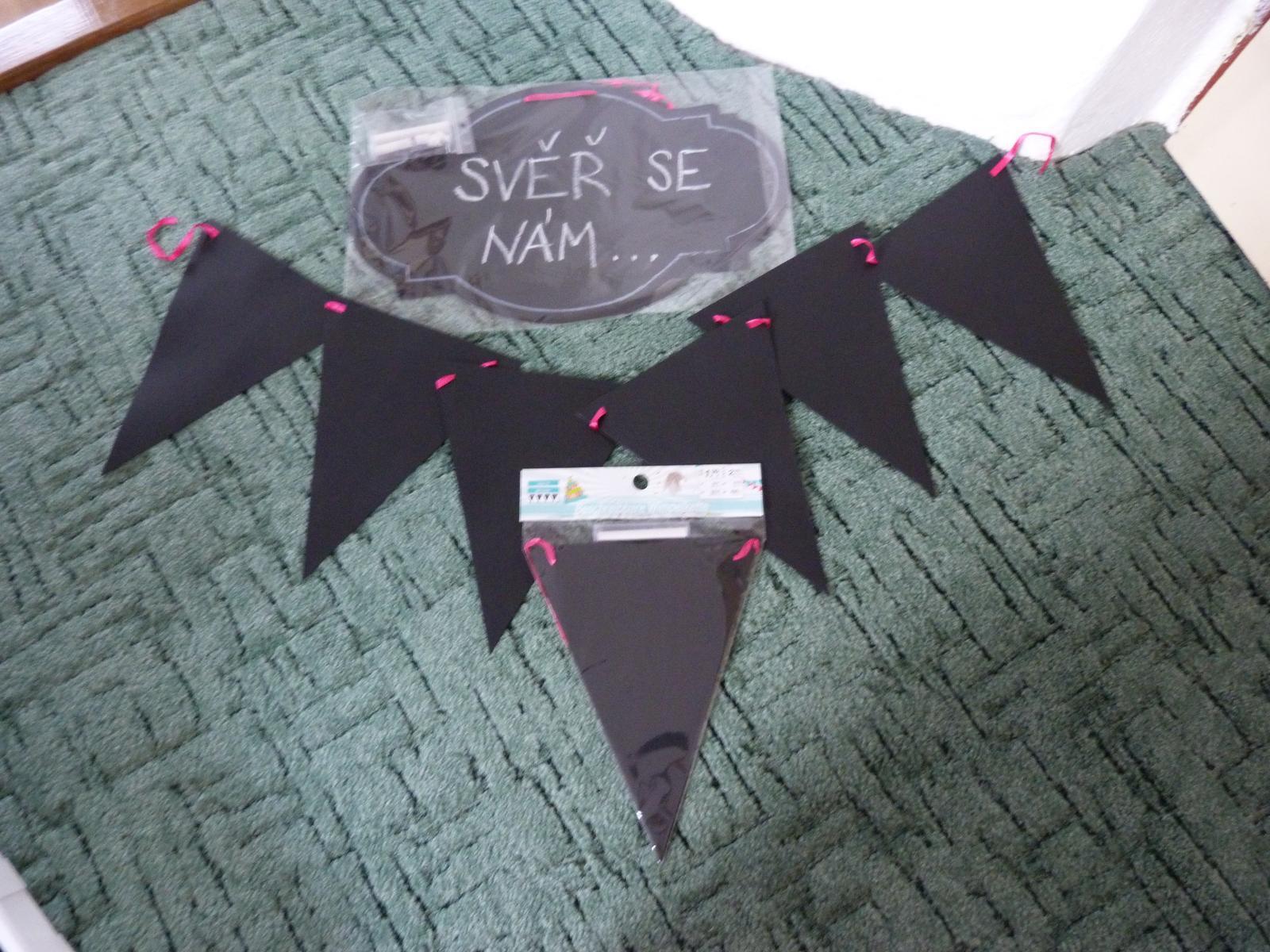Papírová křídová dekorace - nápisy - Obrázek č. 1