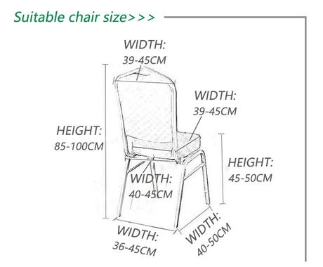 Potah na židle - elastický + mašle - Obrázek č. 2