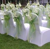 Elastické svatební potahy + mašle,