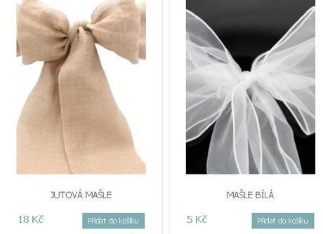 Elastické svatební potahy + mašle - Obrázek č. 2