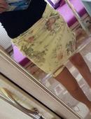 žltá kvietkovaná sukňa, S