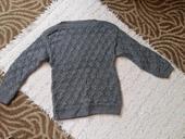 Šedý pletený sveter, S