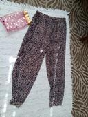 Tigrované nenosené nohavice, S