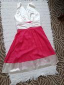 Smotanovo ružové nenosené šaty, S