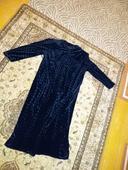 Čierne elegantné šaty, L