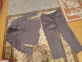 Tmavohnedý oblek, XXL