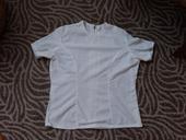 Biele čipkované tričko, L