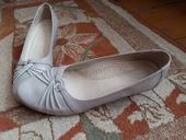 Krémové kožené topánky, 41