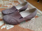 Hnedé kožené topánky, 41