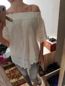 Bavlnená blúzka s výšivkou, M
